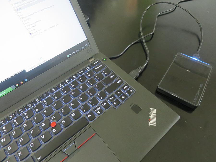 ThinkPad X270 USB3.0 速度が速いのは右?左?