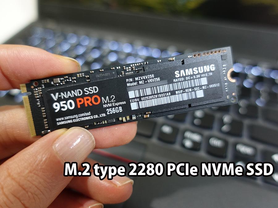 x280 SSD 届いてからサムスン Pcie NVMeに交換予定