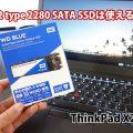 ThinkPad X270 PCIe NVMe SSD 2280をSATAに交換出来るのか