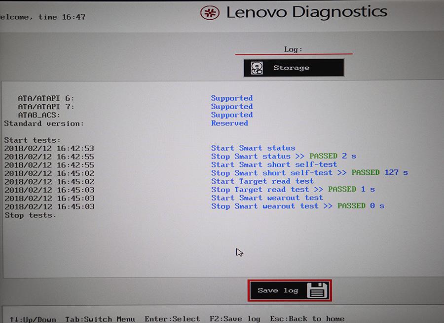 X270 にとりつけたSATA SSD 2280 M.2 は異常なし