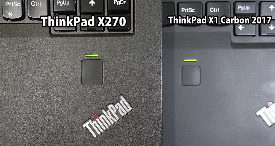 X270 X1 Carbon 2017の指紋センサー 大きさが違う