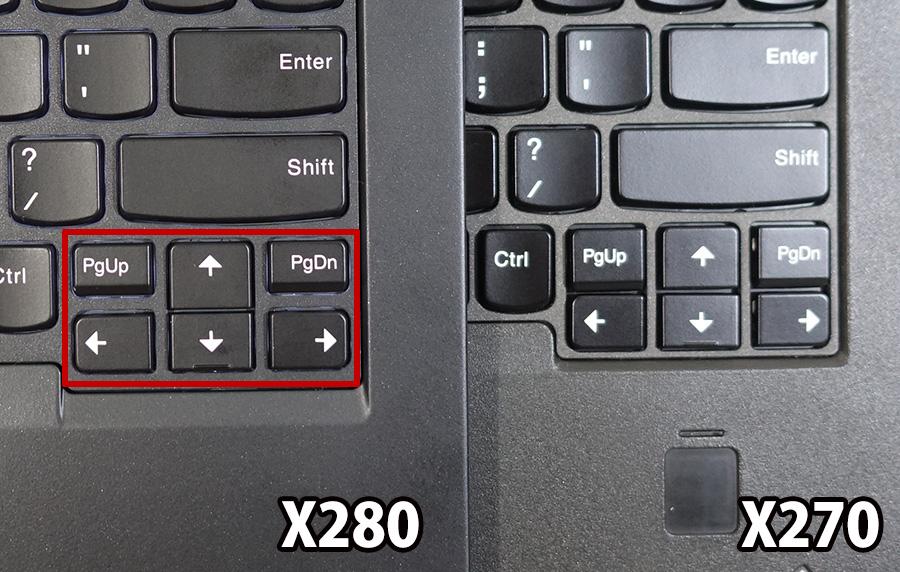 X280 pgup pgdn ボタンが分離した