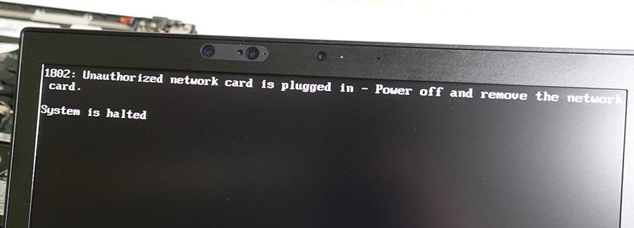 X280 WWANカード BIOSではじかれる