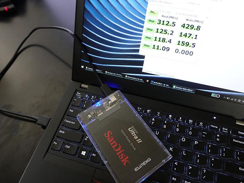 X280 サンディスク 480GB SSDを取り付ける