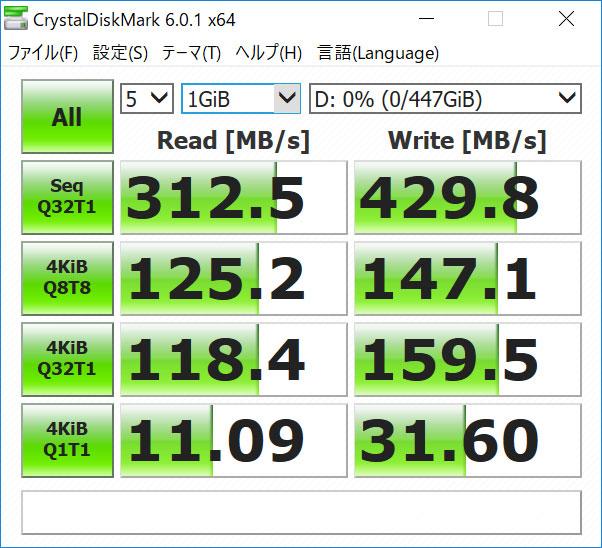 X280 SSDケース ベンチマーク速度