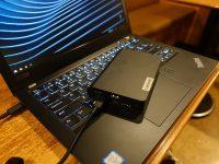 ThinkPad X280 バッテリー交換できないので・・・ モバイルバッテリーを活用