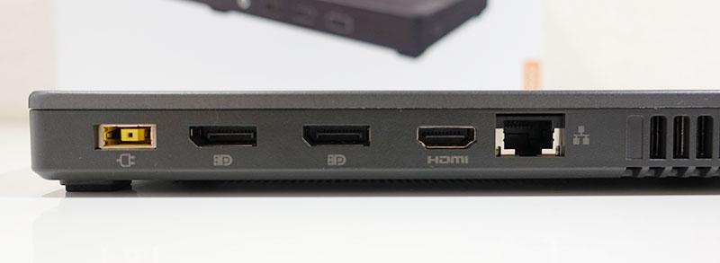 Thunderbolt 3 Graphics Dock 背面端子