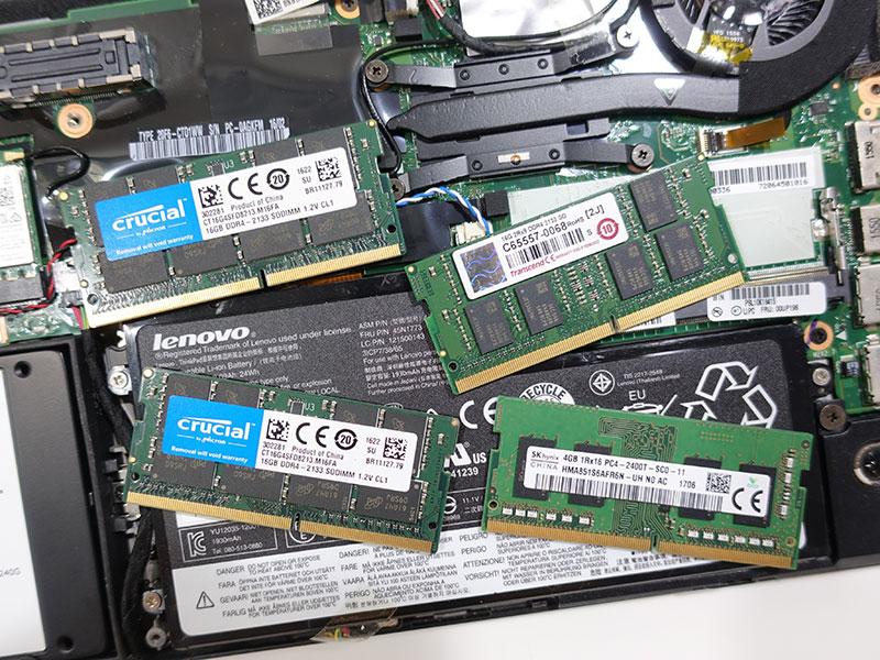 メモリスロットがあるXシリーズは使いまわせるのが便利