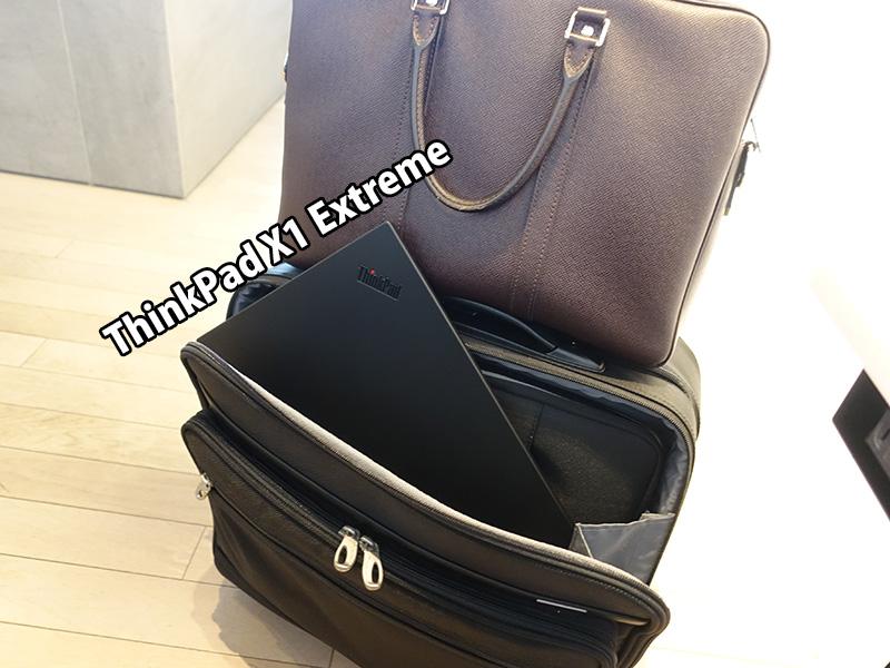 4泊5日の旅にThinkPad X1 ExtremeとX280