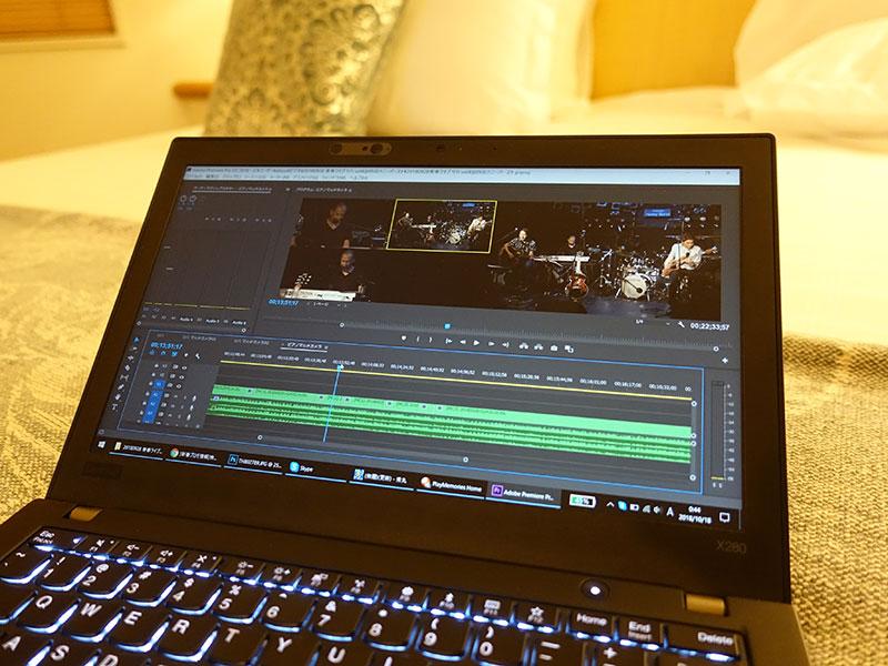X280で動画マルチカメラ編集