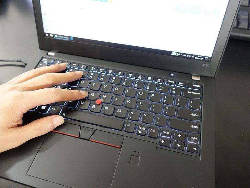 Thinkpad X280 のキーボード とにかく、打ちやすい