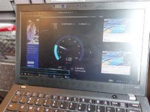 OCNモバイルONE 電車移動中の速度 2019年3月