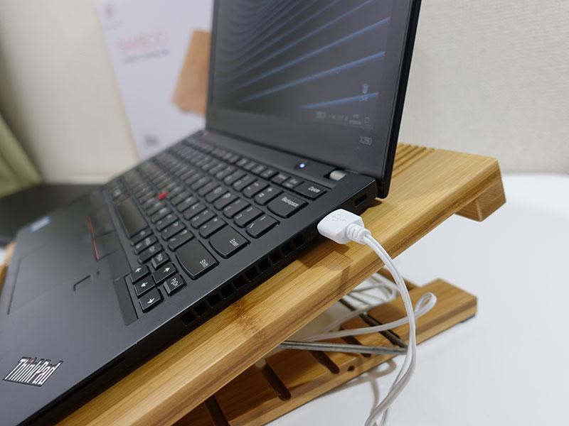 PCスタンド ファン付き USB端子から給電できる