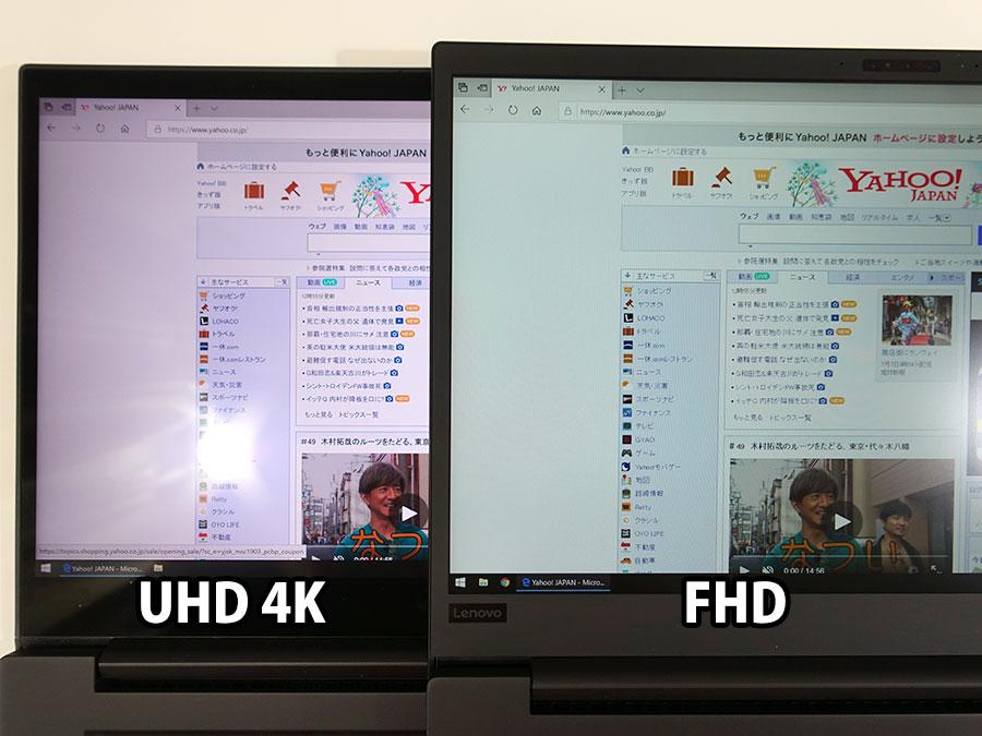 4K UHD ヤフーヘッドラインの文字太さが違うぐらい