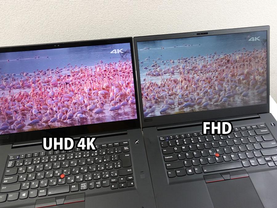 4K UHD vs FHD フラミンゴのピンクが違いすぎる