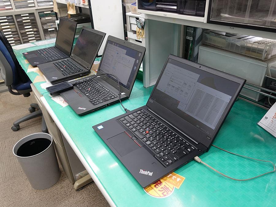 店長の事務所にてThinkPad E490 E590 E450 T440p