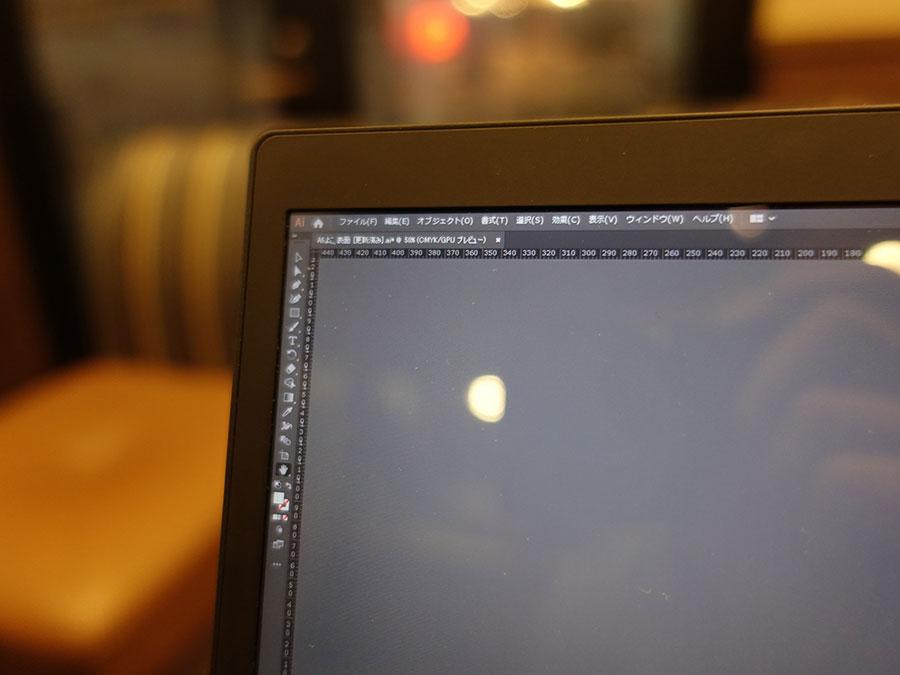 14インチ 4K 100%表示のIllustrator ツールバー
