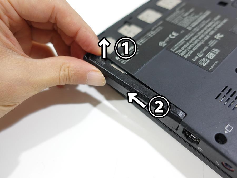 X200s HDDカバー上にあげて横にスライド